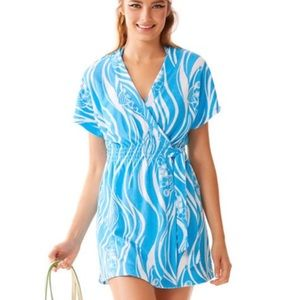 Lilly Pulitzer Laurian Wrap Cover Up Dress Size M